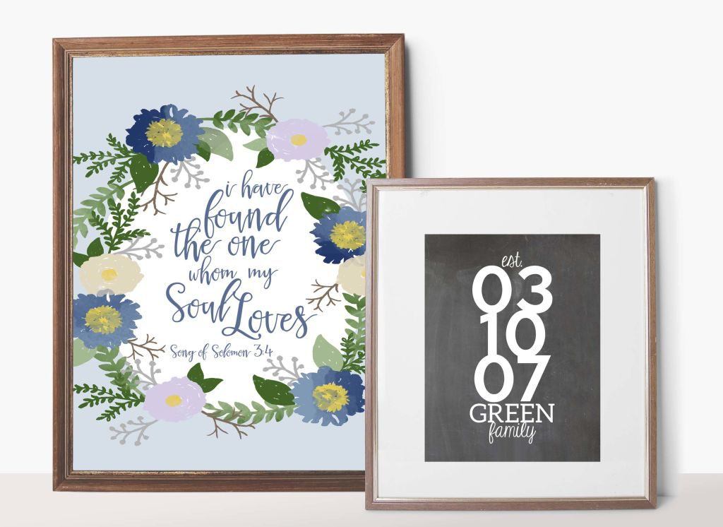 Last Minute Valentines Gift Idea!! Give this set of prints for Valentine's, a Wedding, Bridal Shower, Engagement or Anniversary. They are printable, which makes it a great last minute gift, too.