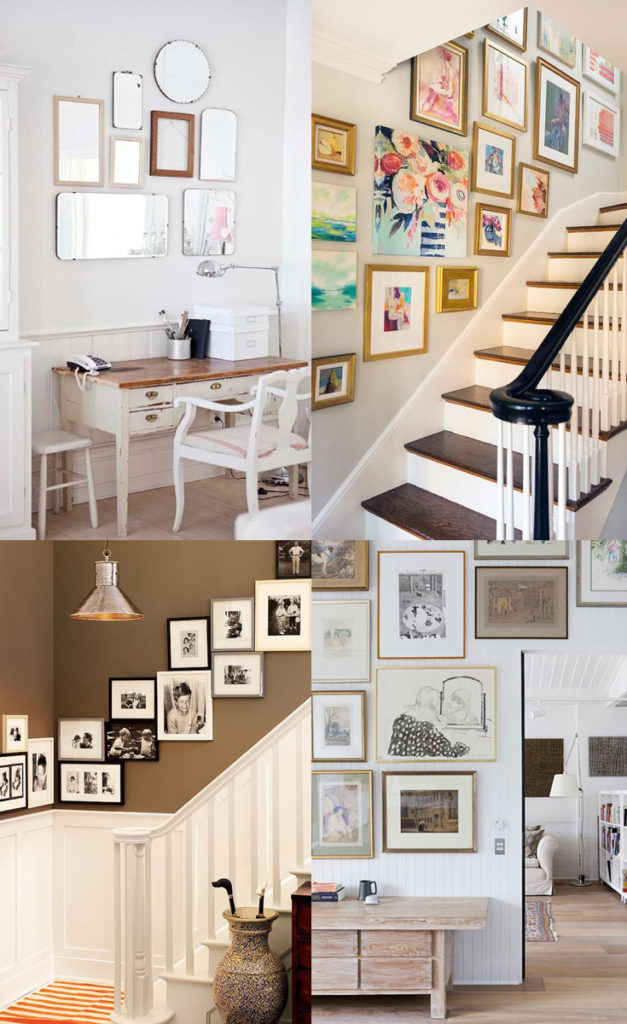 10+ Beautiful Collected Gallery Walls // Gallery Wall Inspiration