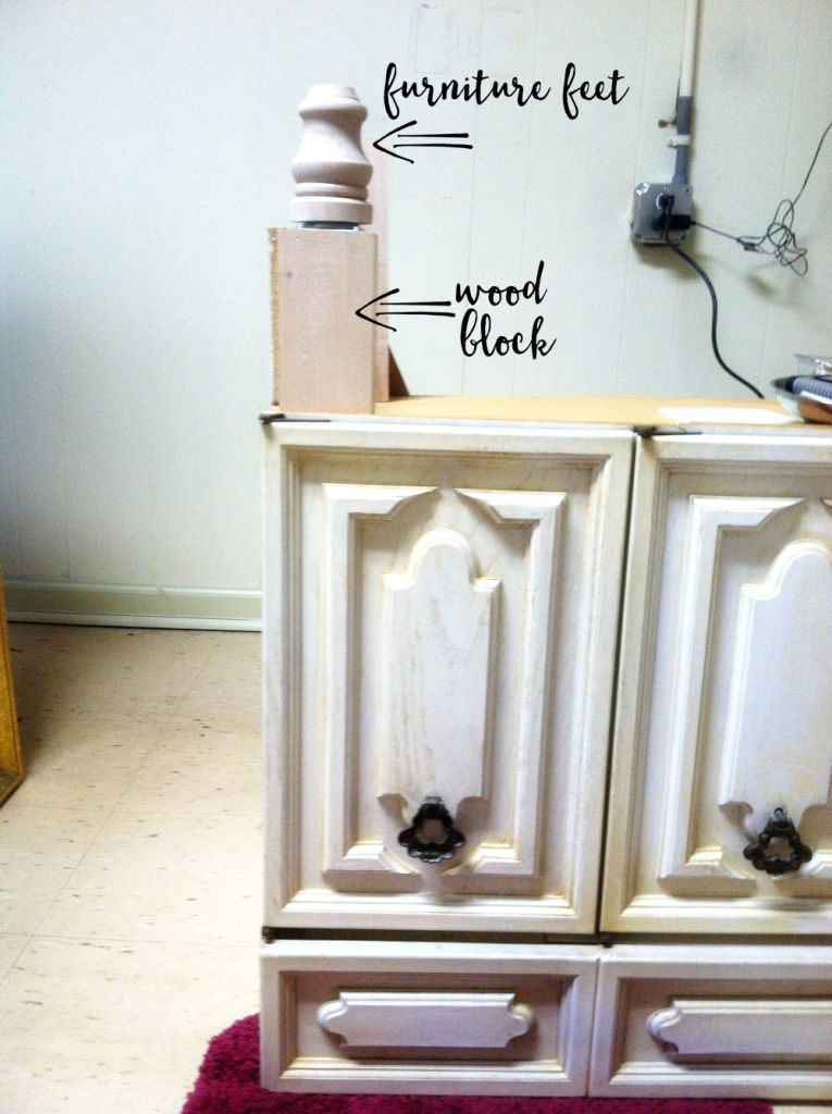 How to Increase the Height of a Bath Vanity // bath vanity makeover - BEFORE
