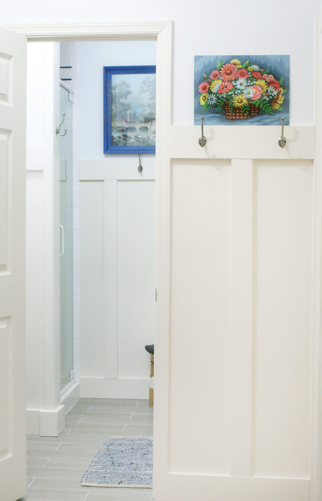 How to Install Board and Batten in a Small Space // Laundry Room & Mudroom Renovation