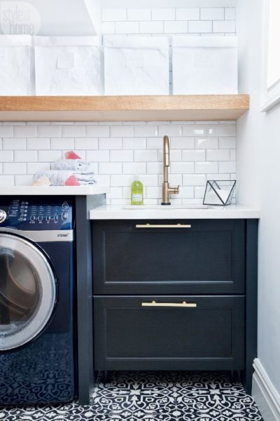 Navy Laundry Room Inspiration
