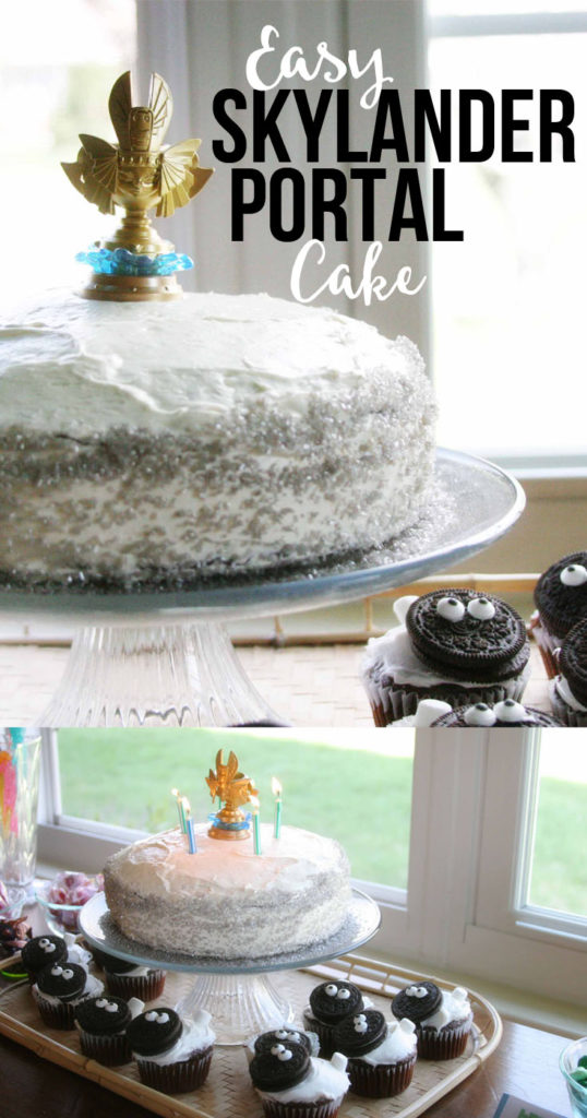 Easy Portal Cake, Easy Skylanders Birthday Party, Sheep Cupcakes by @CraftivityD