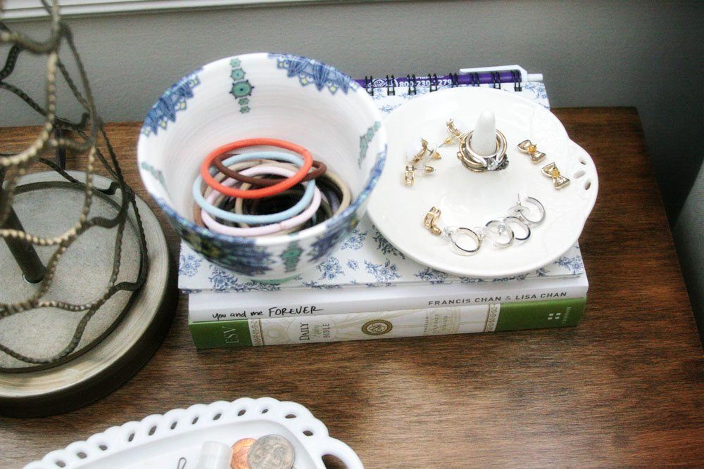 Small Nightstand Organization, Jewelry Storage Ideas