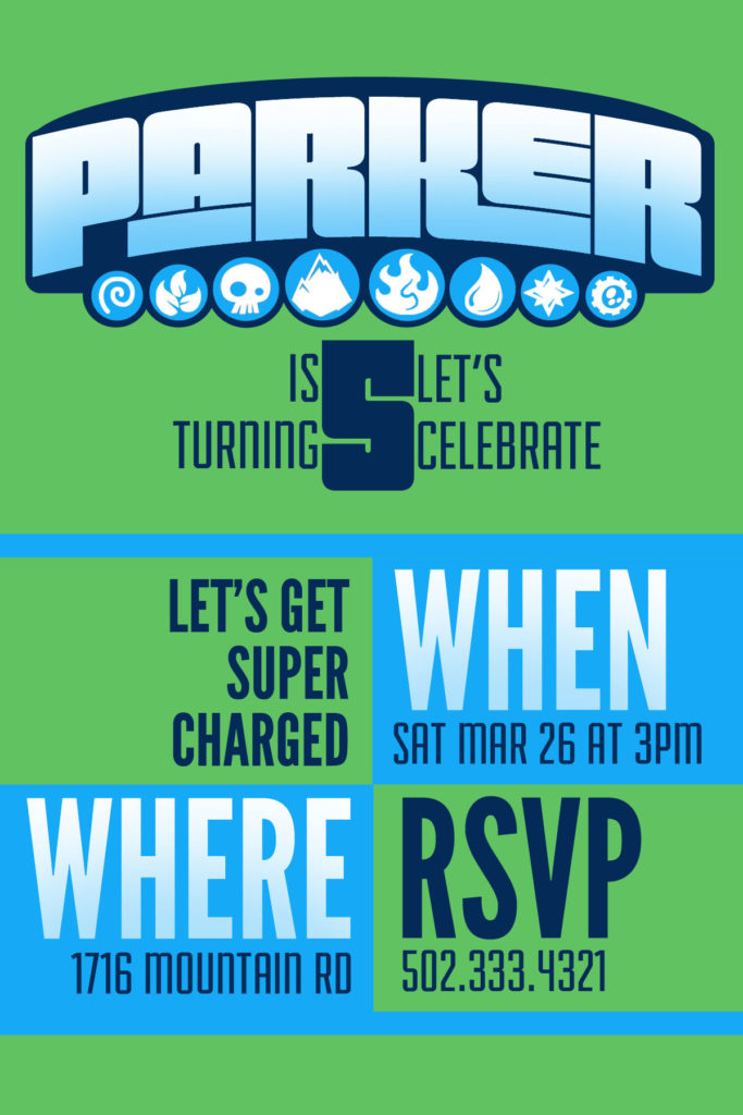 Easy Skylanders Birthday Party, Invitation, Printable, Etsy by @CraftivityD