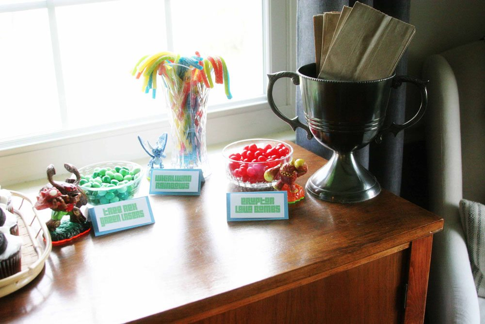 Easy Skylanders Birthday Party, Candy Bar, Party Favor, by @CraftivityD