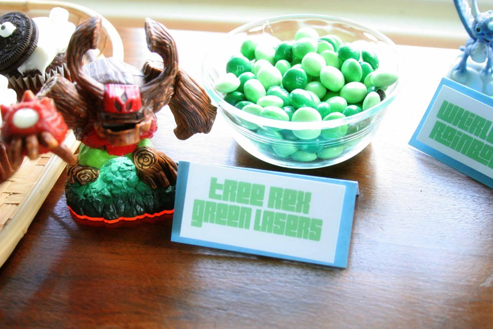 Tree Rex Green Lasers, Easy Skylanders Birthday Party, Candy Bar, Party Favor, by @CraftivityD
