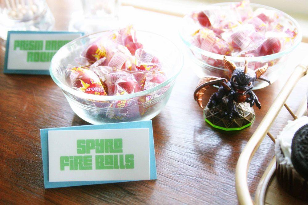 Spyro Fire Balls, Easy Skylanders Birthday Party, Candy Bar, Party Favor, by @CraftivityD