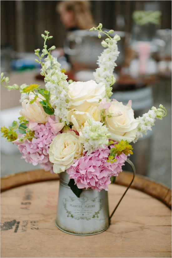 15 Spring Floral Arrangement Ideas // Pink, White, Hydrangea, Rose