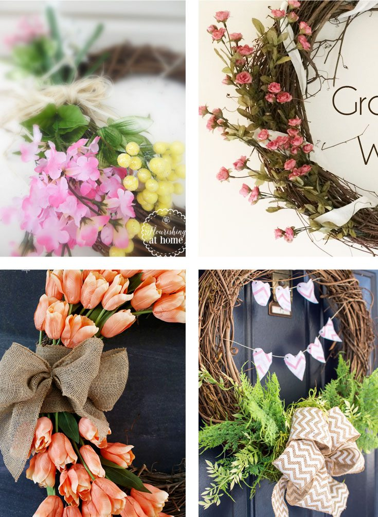 13 Spring Wreath Ideas