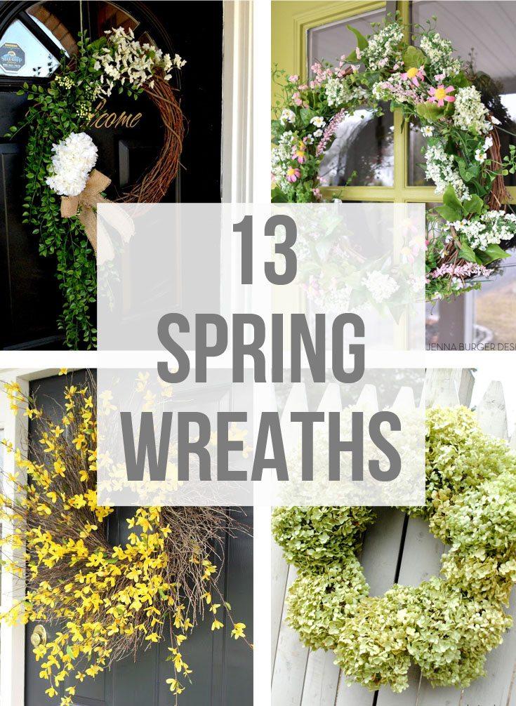 13 Spring Wreath Ideas via @CraftivityD