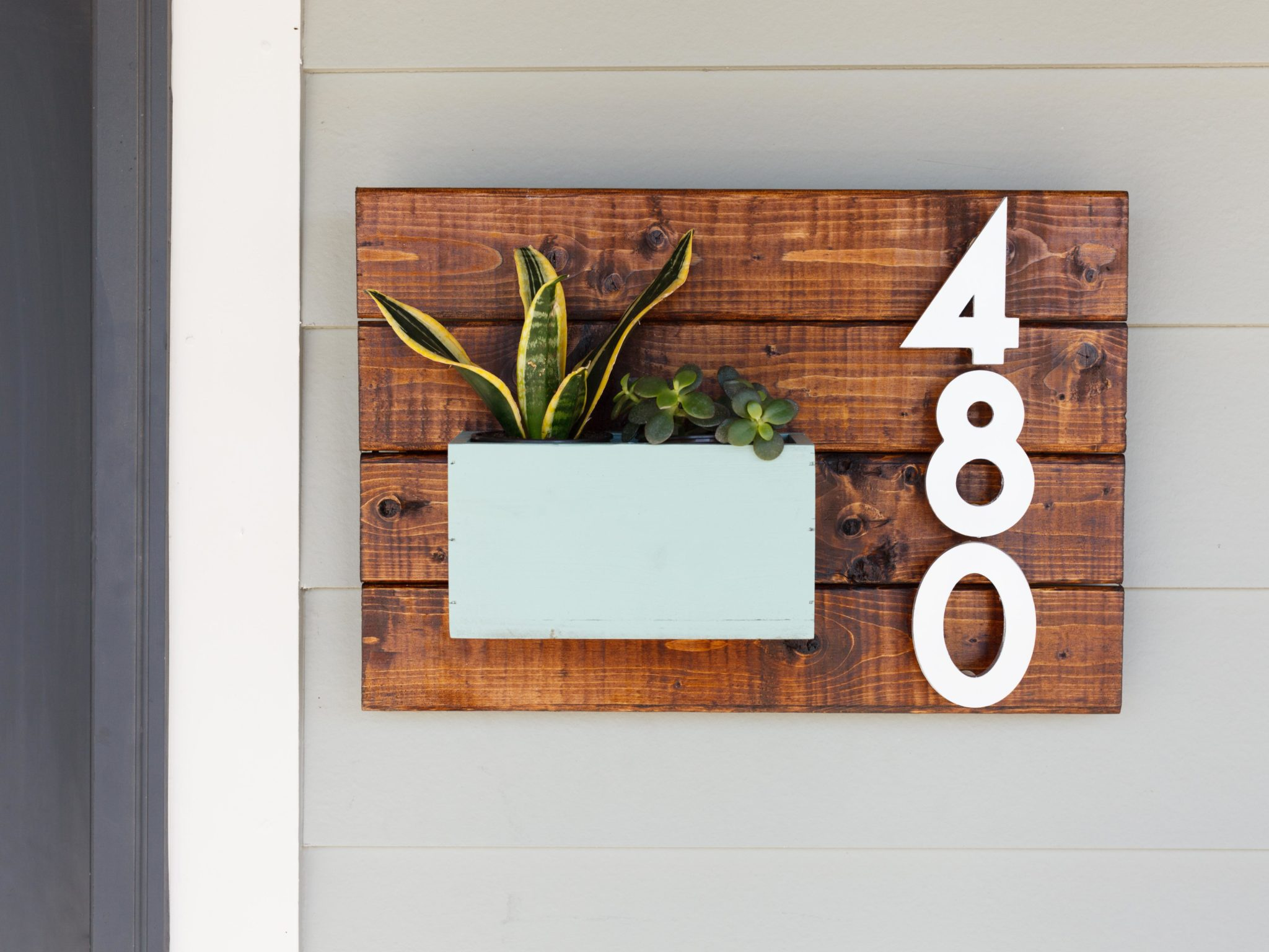 Diy house number sign craftivity designs for Modern home projects
