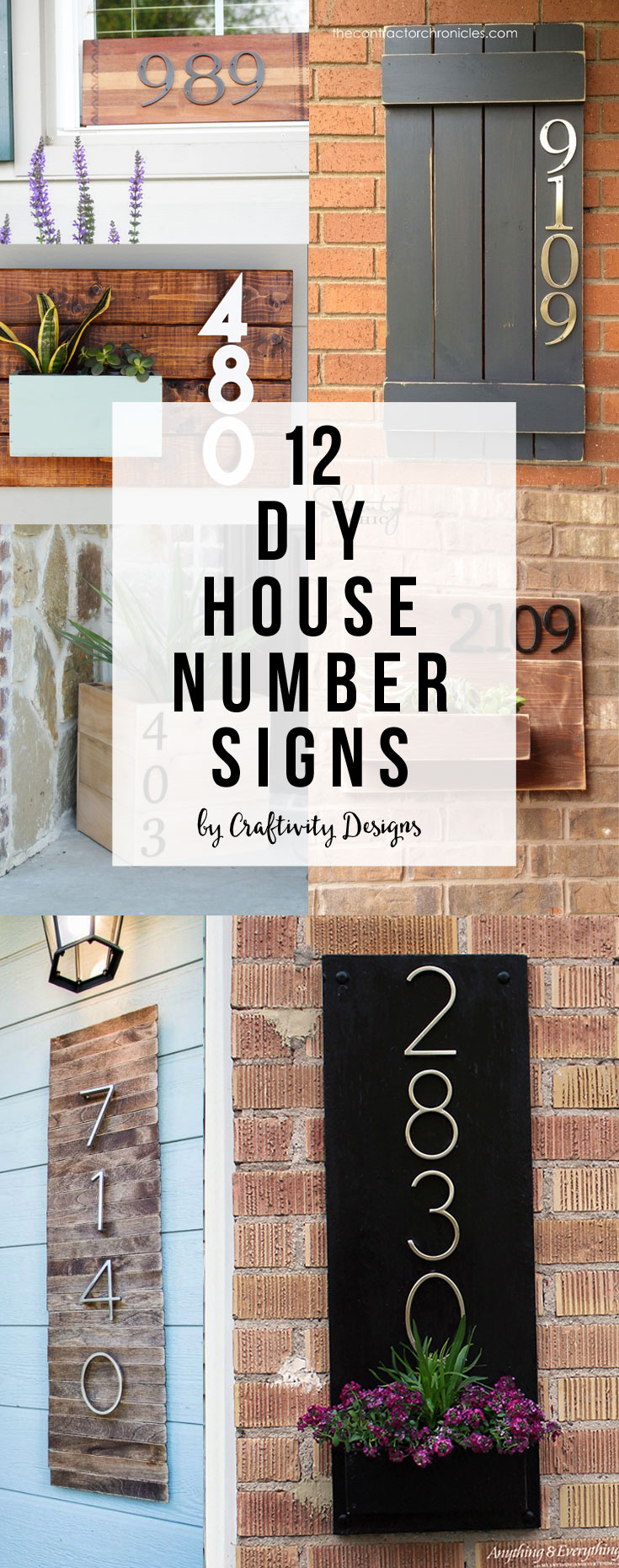 Diy House Number Sign Craftivity Designs