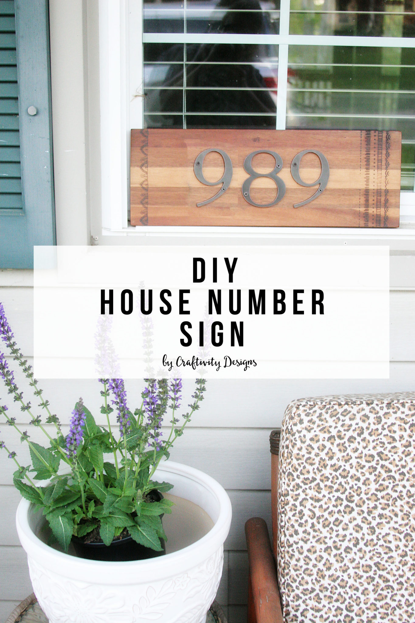 Diy house number sign craftivity designs for House sign designs