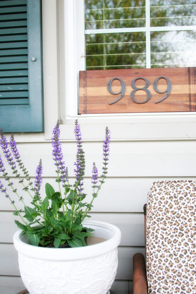 DIY House Number Sign, DIY House Address Sign, Street Address by @CraftivityD