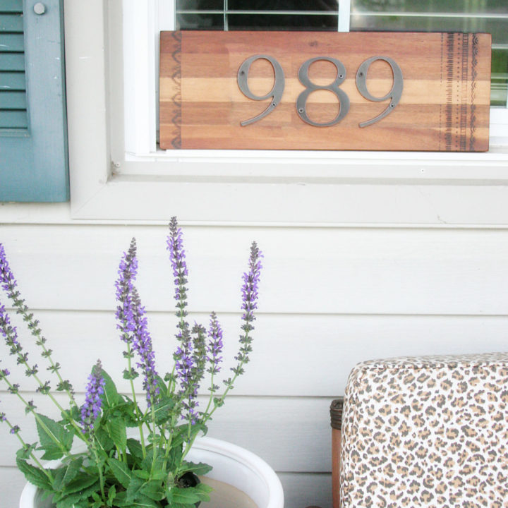How to Make a DIY House Number Sign (in minutes!)