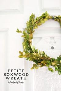 How to Make a Boxwood Wreath by @CraftivityD, small wreath, DIY Boxwood Wreath