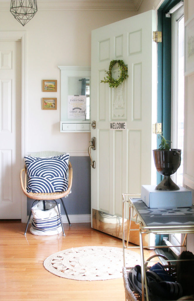 2016 Entryway Spring Tour by @CraftivityD - blue, green, mint, navy, grey, entry