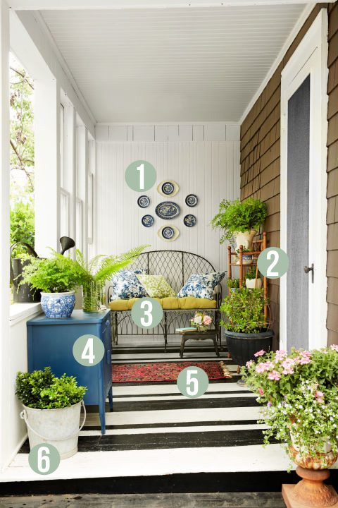 Get the Look, Garden Porch, Country Living, Tiny Gardener's Cottage, designed by Janet Korff