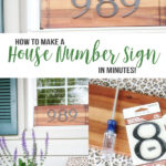 diy house number sign, house address sign