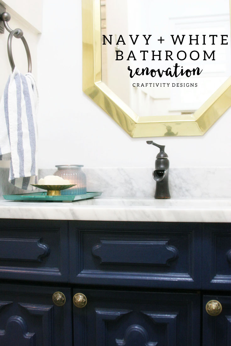 navy and white bathroom renovation  craftivity designs