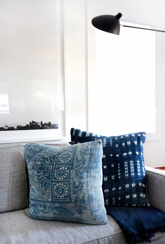 14 Outdoor Pillow Fabrics and Combinations by @CraftivityD-- photo from One Kings Lane
