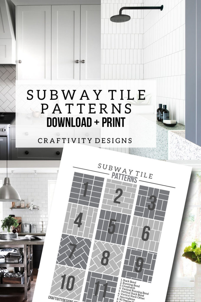 50+ Subway Tile Ideas. The ultimate list of subway tile options -- sizes, colors, materials, patterns, etc. Includes a FREE Printable - Subway Tile Pattern Templates. by CraftivityD