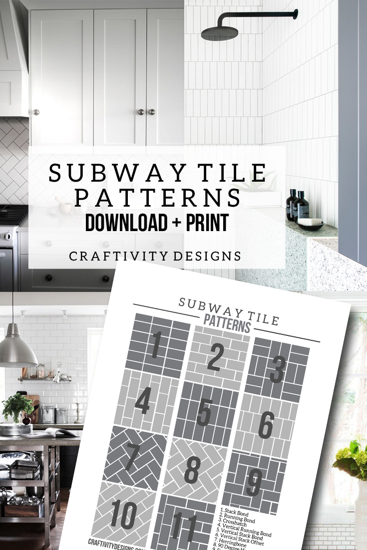 Subway Tile Pattern Ideas 50+ subway tile ideas + free tile pattern template – craftivity