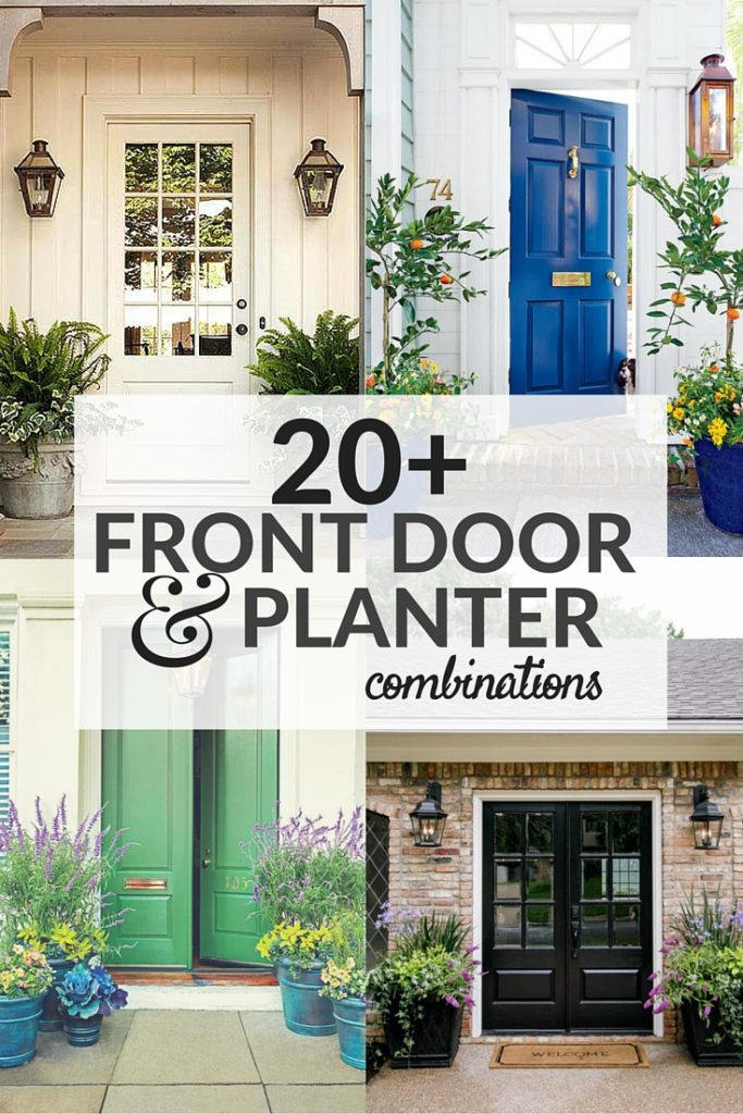 20+ Front Door & Planter Combinations