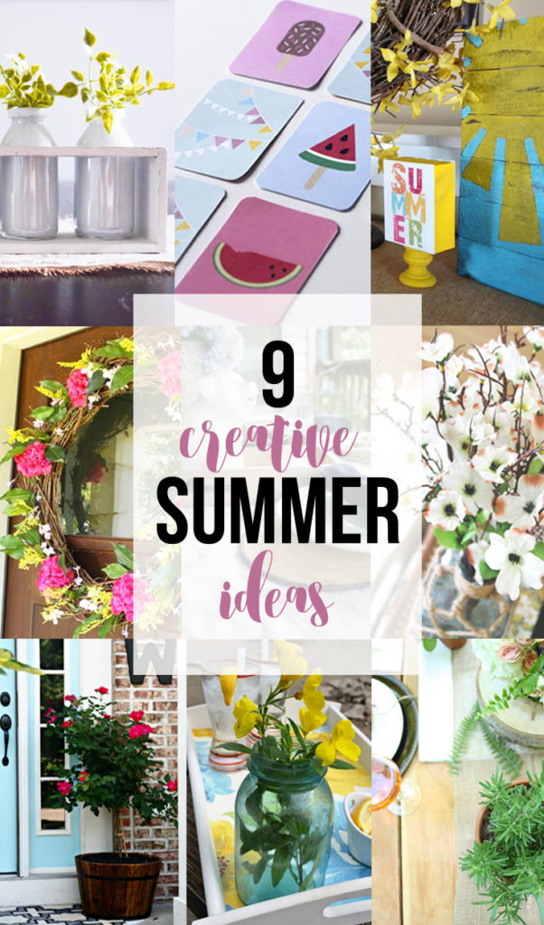 9 Creative Summer Ideas from 9 DIY Bloggers via @CraftivityD