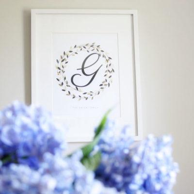 Hydrangea Centerpiece + a Free Printable