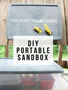 Make a DIY Portable Sandbox. Plus, it's a mess-free sandbox! by @CraftivityD