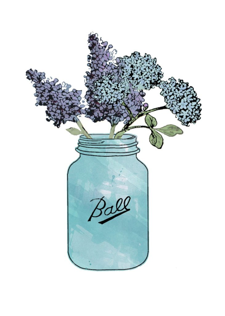 Hydrangea Centerpiece and a Free Printable, Hydrangea Art by @CraftivityD