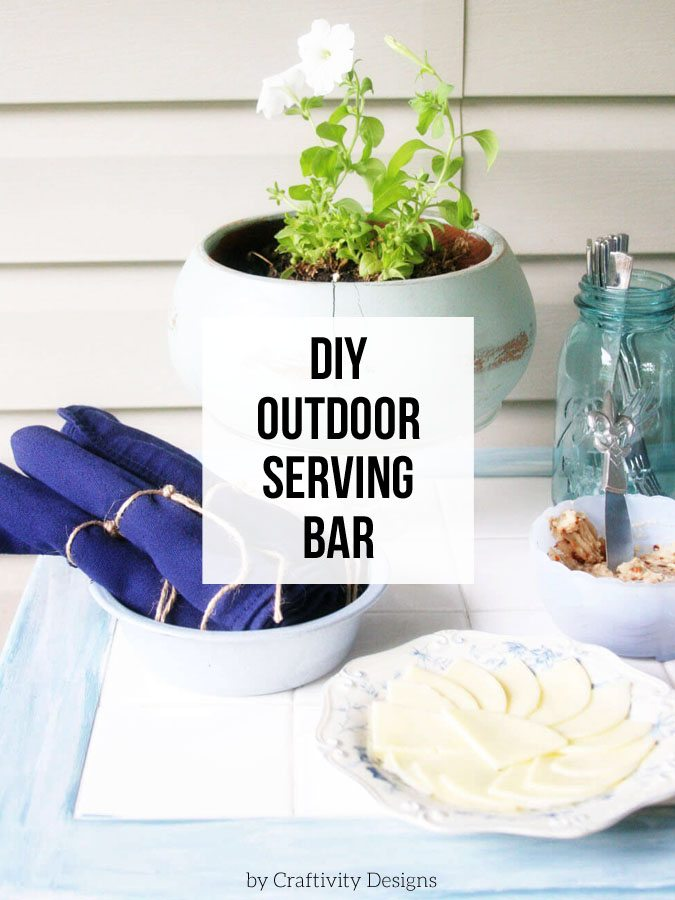 How to make a DIY Outdoor Serving Bar.