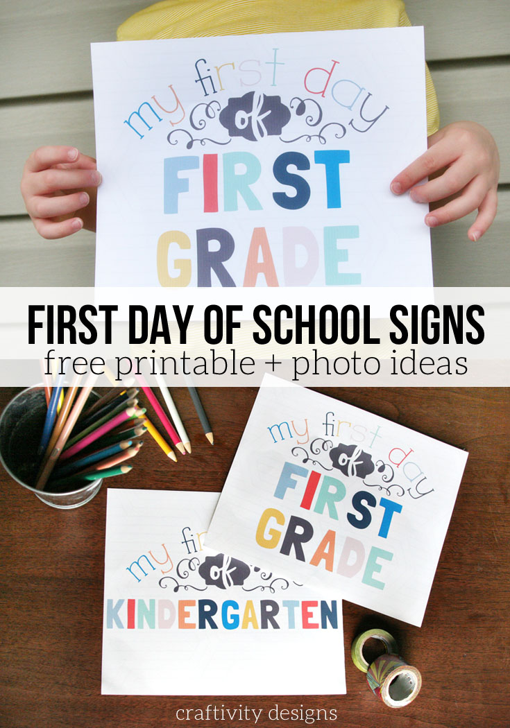 photograph regarding Free Printable Back to School Signs called 9 Initially Working day of Higher education Signs or symptoms + Recommendations for Ideal Shots
