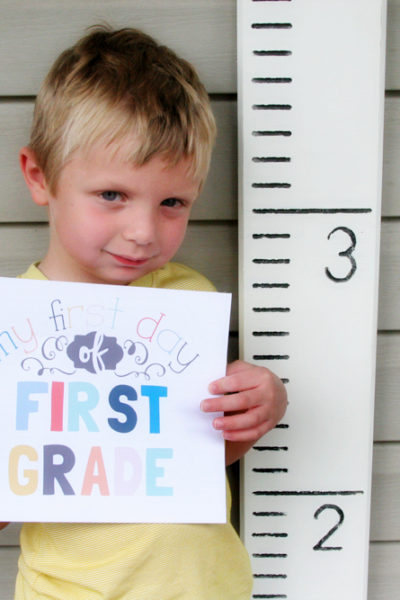 Growth Chart Photo Prop