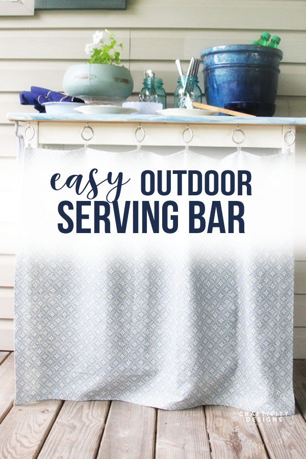 easy outdoor serving bar