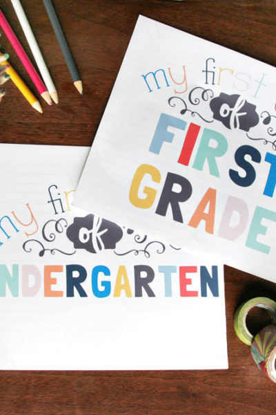 First Day of School Signs // Free Printable