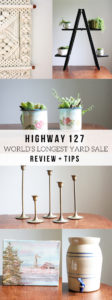My favorite items found along the World's Longest Yard Sale, Hwy 127 Sale, #127yardsale by @CraftivityD