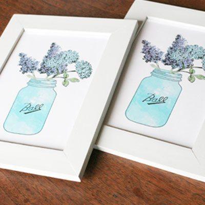Shop Farmhouse Artwork : Hydrangea and Jar : $5
