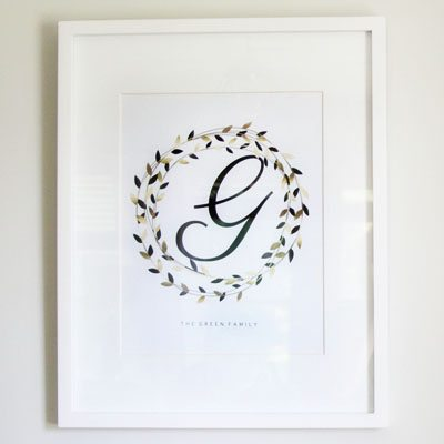 Shop Personalized Artwork : Family Name : $10