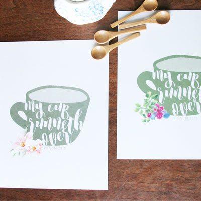 Shop Scripture Artwork : Cup Runneth Over : $5