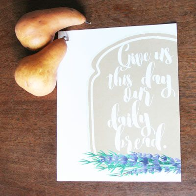 Shop Kitchen Artwork : Our Daily Bread : $5