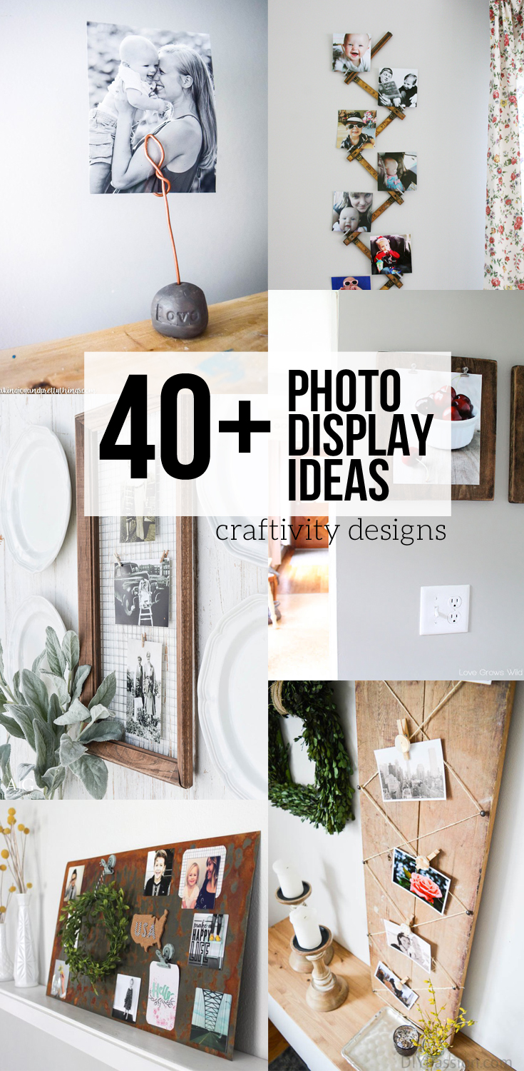 40+ Photo Display Ideas, DIY Photo Display, Vintage Photo Display, Art Display by @CraftivityDs
