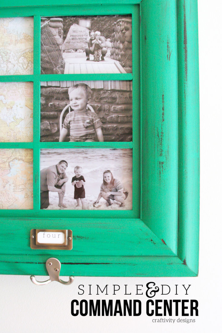 Learn how to make a DIY Family Command Center from a large picture frame. This DIY command center has room for notes, photos, backpacks, jackets, and more! #backtoschool #organization #entryway Family Command Center Ideas | Home Command Center | Family Command Center Wall | DIY Command Center on a Budget | DIY Command Center Kitchen