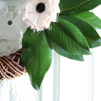 Simple DIY Magnolia Wreath : Fall Wreath Blog Hop