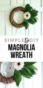 Simple DIY Magnolia Wreath by @CraftivityD