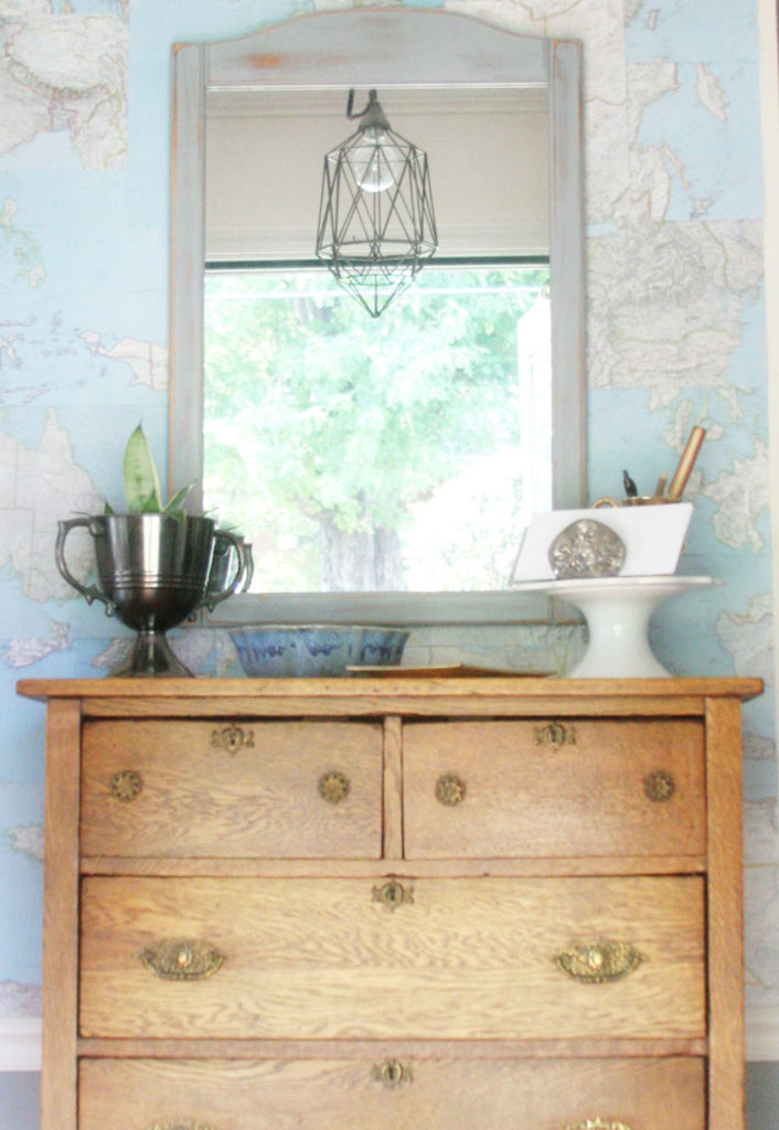 DIY Map Wallpaper, Wall Treatment, Renter-Friendly, Temporary, Map Wall by @CraftivityD