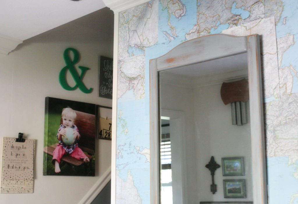 DIY Map Wallpaper, Wall Treatment, Renter-Friendly, Temporary, Map Wall by @CraftivityD