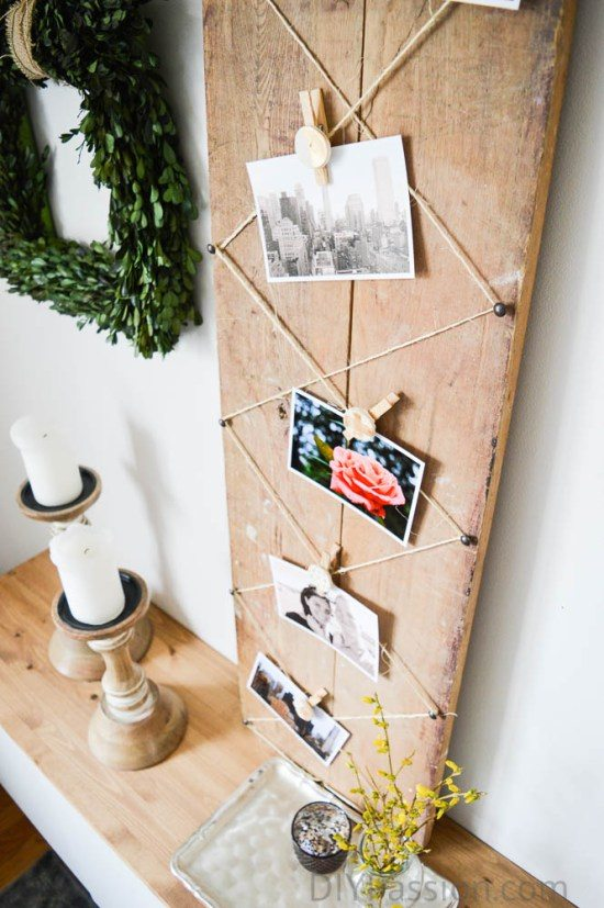 40+ Photo Display Ideas, DIY Photo Display, Vintage Photo Display, Art Display by @CraftivityD: