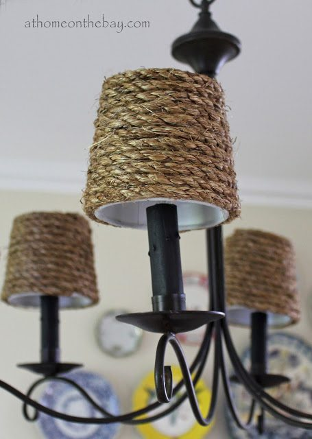 10 DIY Rustic Lights using rope + DIY Rope Cord Cover by @CraftivtyD